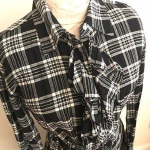 Converse Dresses - Converse Plaid Button Down Shirt Dress Belt Tie